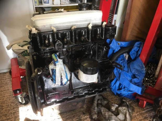 MG Engine Painted